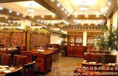 华贵优雅的中式餐厅装修设计图酒店装修图片
