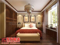 清新静雅的别墅中式装修设计中式卧室装修图片