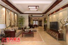 清新静雅的别墅中式装修设计中式客厅装修图片