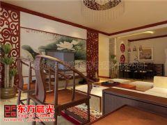 唯美风简约中式装修家装设计中式客厅装修图片