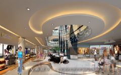 城市综合体效果图:陕西旬阳中央会所商场装修图片