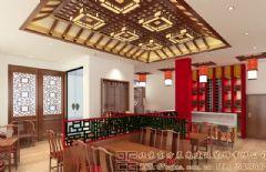 唯美雅致的中式酒店装修设计案例酒店装修图片