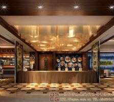 富丽新颖的中式酒店装修设计案例