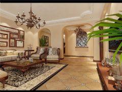 成都尚层装饰别墅装修设计师推荐欧美风格案例欣赏(九)美式客厅装修图片