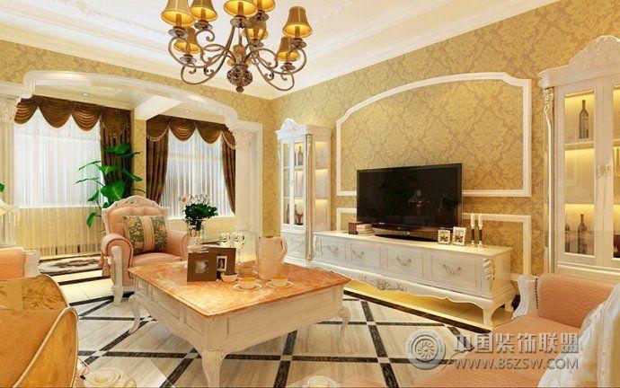 电视背景墙装修效果图-客厅装修效果图-八六(中国)