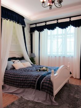 83平地中海清新家地中海卧室装修图片