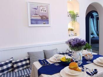 83平地中海清新家地中海餐厅装修图片