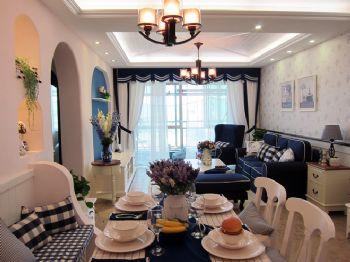 83平地中海清新家地中海客厅装修图片