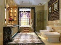 成都尚层装饰别墅装修欧美风格案例欣赏(十)美式卫生间装修图片