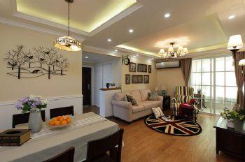 103平新中式装修案例中式客厅装修图片