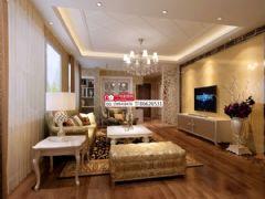 观澜国际95平米欧式客厅装修图片