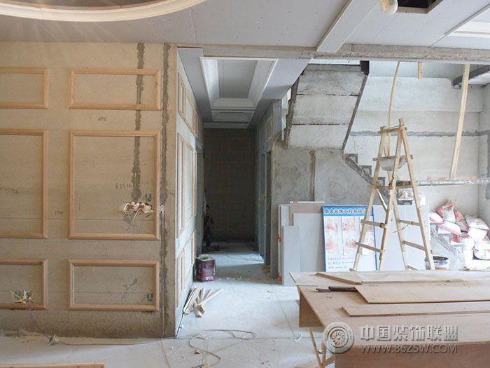 现场施工图-客厅装修效果图-八六(中国)装饰联盟装修