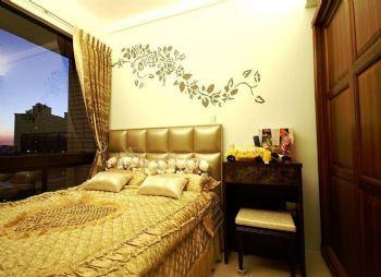 手绘背景墙效果图现代客厅装修图片