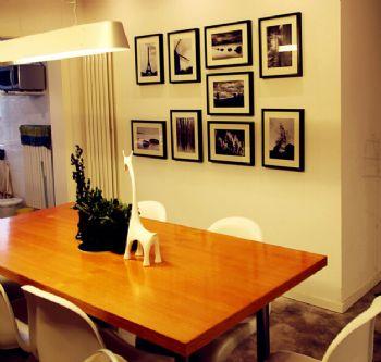 80平北欧风两居室欧式餐厅装修图片