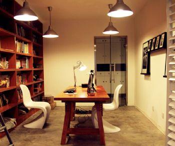 80平北欧风两居室欧式书房装修图片