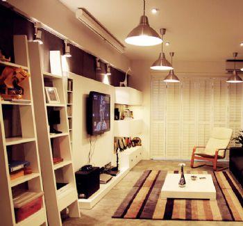 80平北欧风两居室欧式客厅装修图片