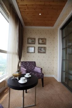 140平现代与法式田园的混搭风格混搭阳台装修图片