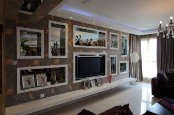 140平现代与法式田园的混搭风格混搭客厅装修图片