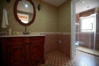 140平现代与法式田园的混搭风格混搭卫生间装修图片