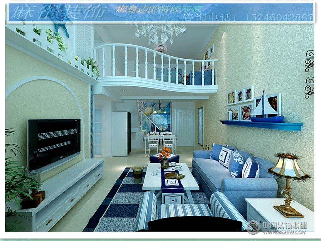 地中海風情-客廳裝修效果圖-八六(中國)裝飾聯盟裝修