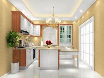 家庭厨房L型橱柜现代装修图片