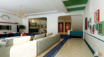万科城市花园120平三居现代客厅装修图片