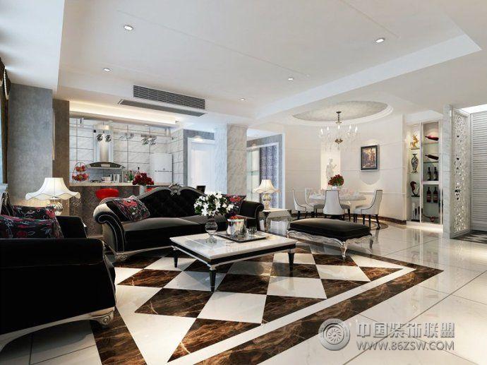 地板砖装修效果图-客厅装修效果图-八六(中国)装饰