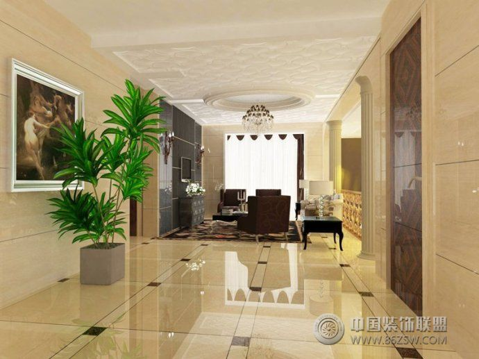 地板磚裝修效果圖-客廳裝修圖片
