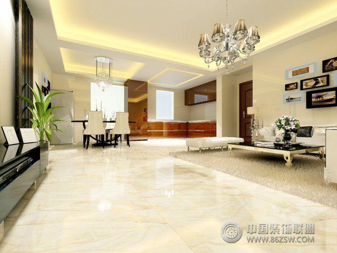 地板磚裝修效果圖-客廳裝修效果圖-八六(中國)裝飾(.
