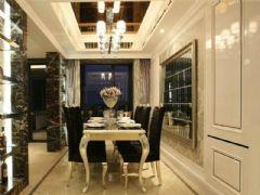 成都尚层装饰别墅装修欧美风格案例欣赏(十一)美式餐厅装修图片