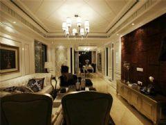 成都尚层装饰别墅装修欧美风格案例欣赏(十一)美式客厅装修图片
