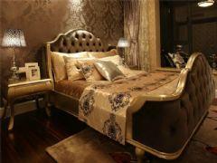 成都尚层装饰别墅装修欧美风格案例欣赏(十一)美式卧室装修图片
