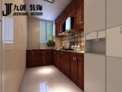 滨西花园现代简约厨房装修图片