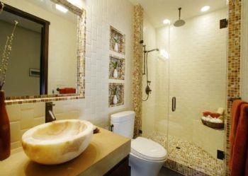 马赛克瓷砖装修效果图简约卫生间装修图片