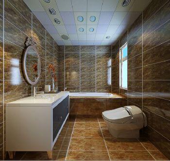 中式风格别墅装修设计与美同居-卫生间装修效果图-八