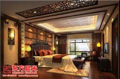 中式风格别墅装修设计与美同居中式卧室装修图片