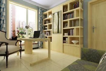140平现代简约装修案例现代书房装修图片