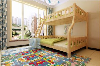 140平现代简约装修案例现代儿童房装修图片