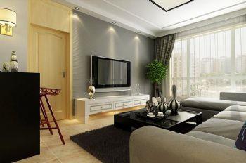 140平现代简约装修案例现代客厅装修图片