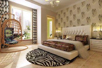 140平现代简约装修案例现代卧室装修图片