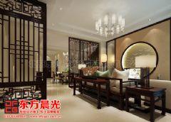 中式别墅装修设计展示盎然生机中式客厅装修图片