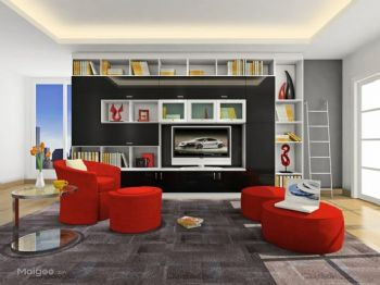 客厅电视柜装修效果图现代客厅装修图片