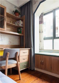 132平中式美居装修案例中式书房装修图片