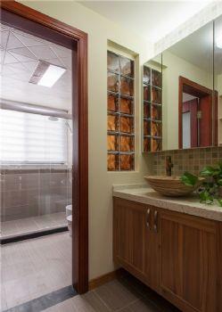 132平中式美居装修案例中式卫生间装修图片