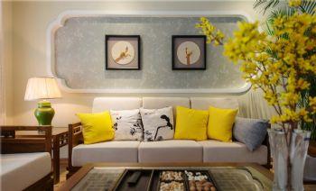 132平中式美居装修案例中式客厅装修图片