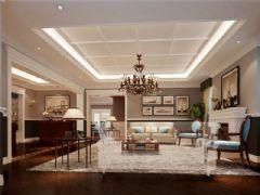 成都尚层装饰别墅装修设计师推荐欧美风格案例欣赏(十二)美式客厅装修图片