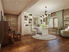 成都尚层装饰别墅装修设计师推荐欧美风格案例欣赏(十二)美式过道装修图片