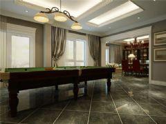成都尚层装饰别墅装修设计师推荐欧美风格案例欣赏(十二)美式餐厅装修图片