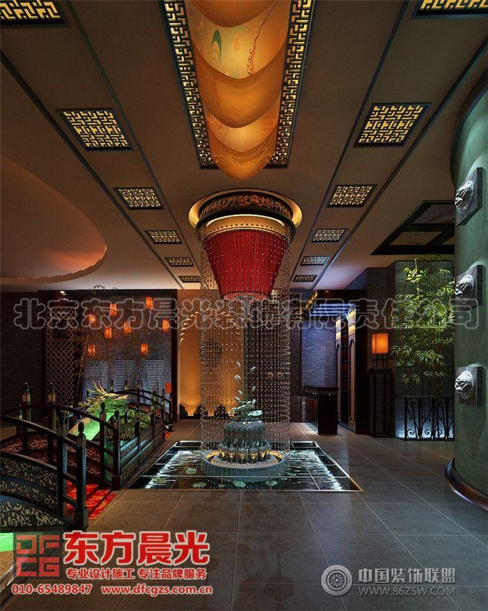 中式装修餐饮会所设计效果图