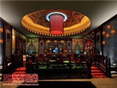 中式装修餐饮会所设计效果图会所装修图片